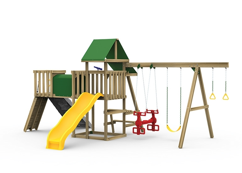 Varsity Gold Playset back view