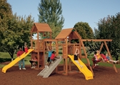 Super Star XP Silver Playset with children playing