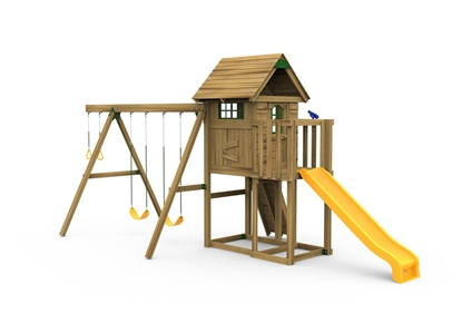 Picture of Play House w/ Swing Beam/Riser Kit & Slide
